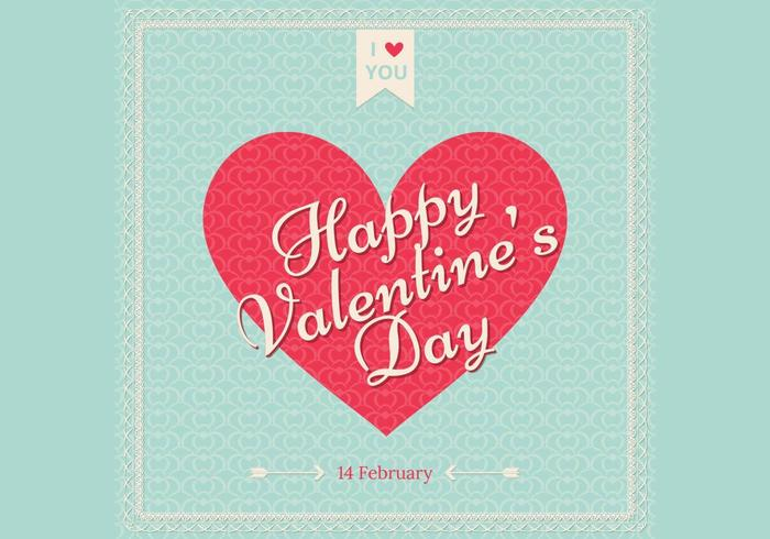 Día de San Valentín retro Wallpaper Vector