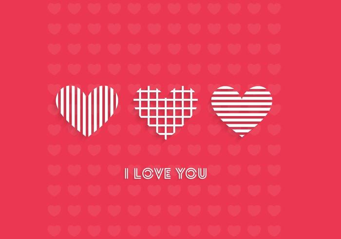 I Love You Wallpaper Vector
