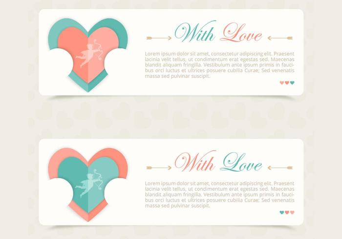 Love Vector Banner Pack