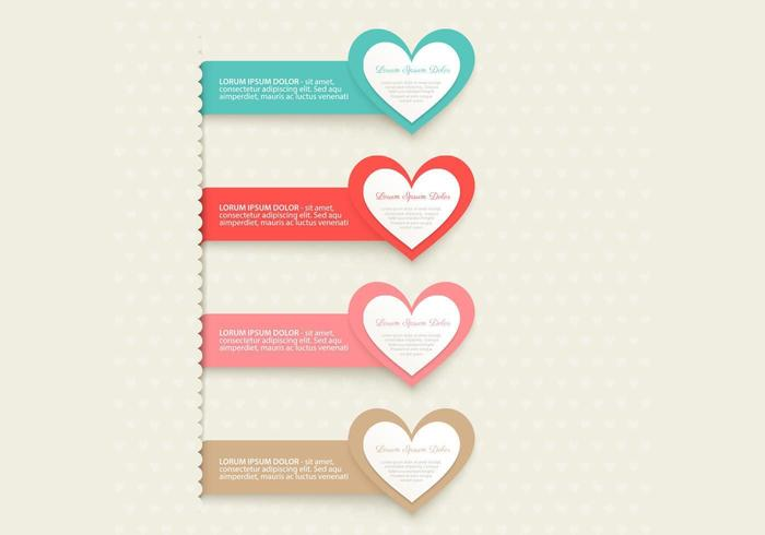 Heart Banner Vector Pack