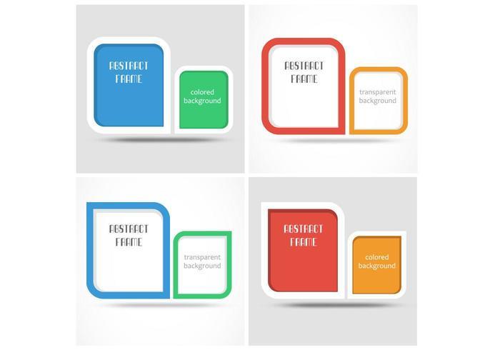 Modern Frame Bakgrund Vector Pack