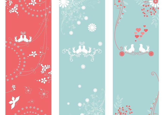Love Bird Banner Vector Pack