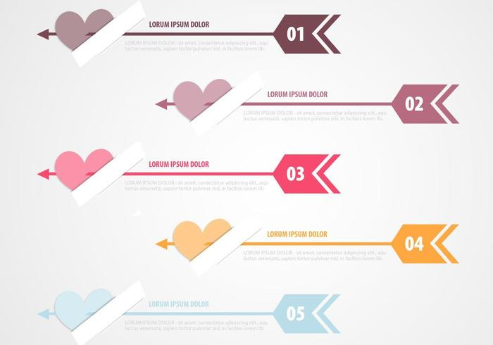 Cupido's Arrow Banner Vector Pack
