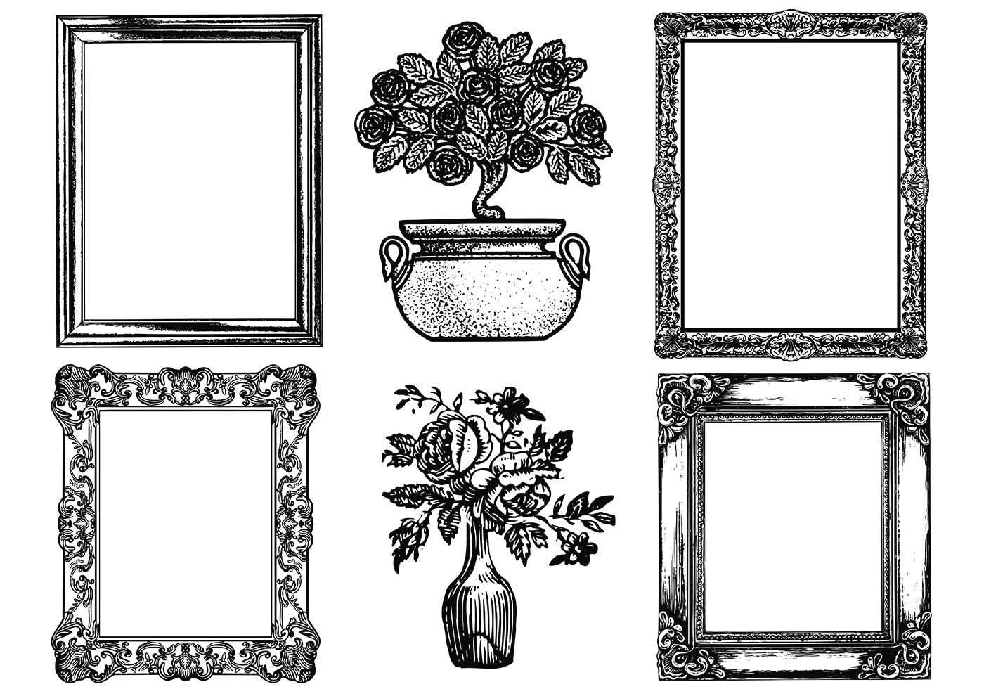 Etched antique picture frame vector pack download free vector etched antique picture frame vector pack download free vector art stock graphics images jeuxipadfo Image collections