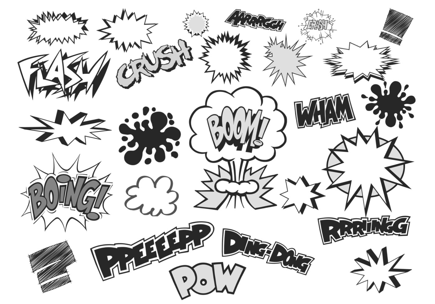 Vector Cartoon For Free Download About 5 514 Vector: Comic Bubble Vector And Text Vector Pack