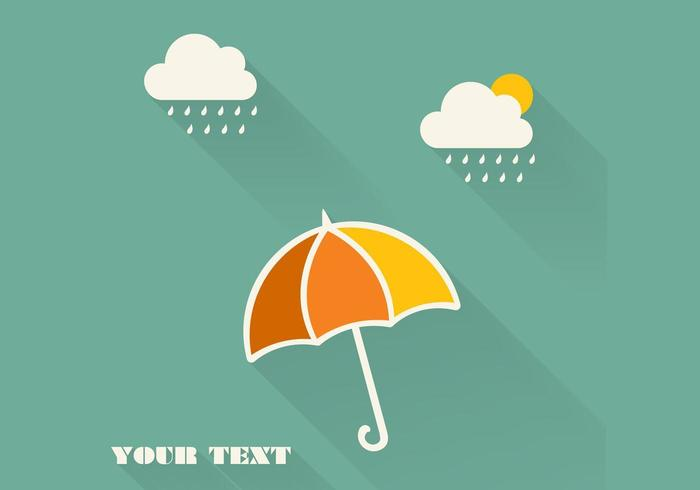 Rain Cloud Background Vector
