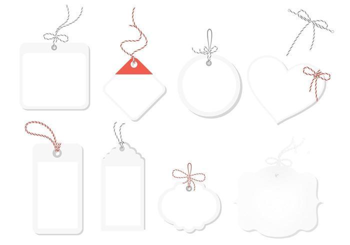 Paquete de vectores de etiqueta blanca
