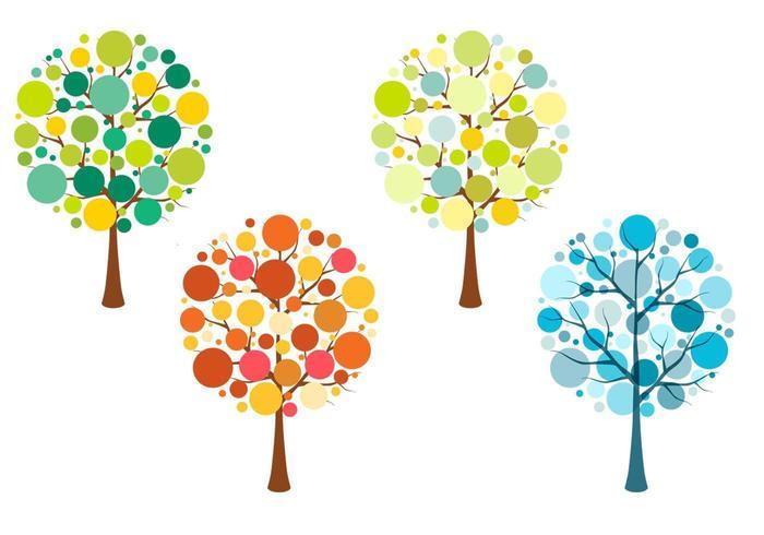 Seasonal Tree Vector Pack