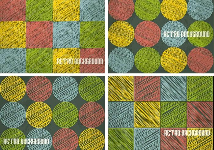 Retro Sketchy Background Vector Pack