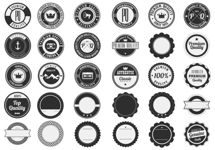 Pacote de vetores de emblemas premium