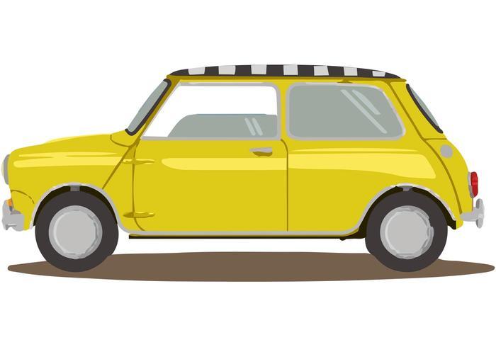Mini Taxi Car Vector