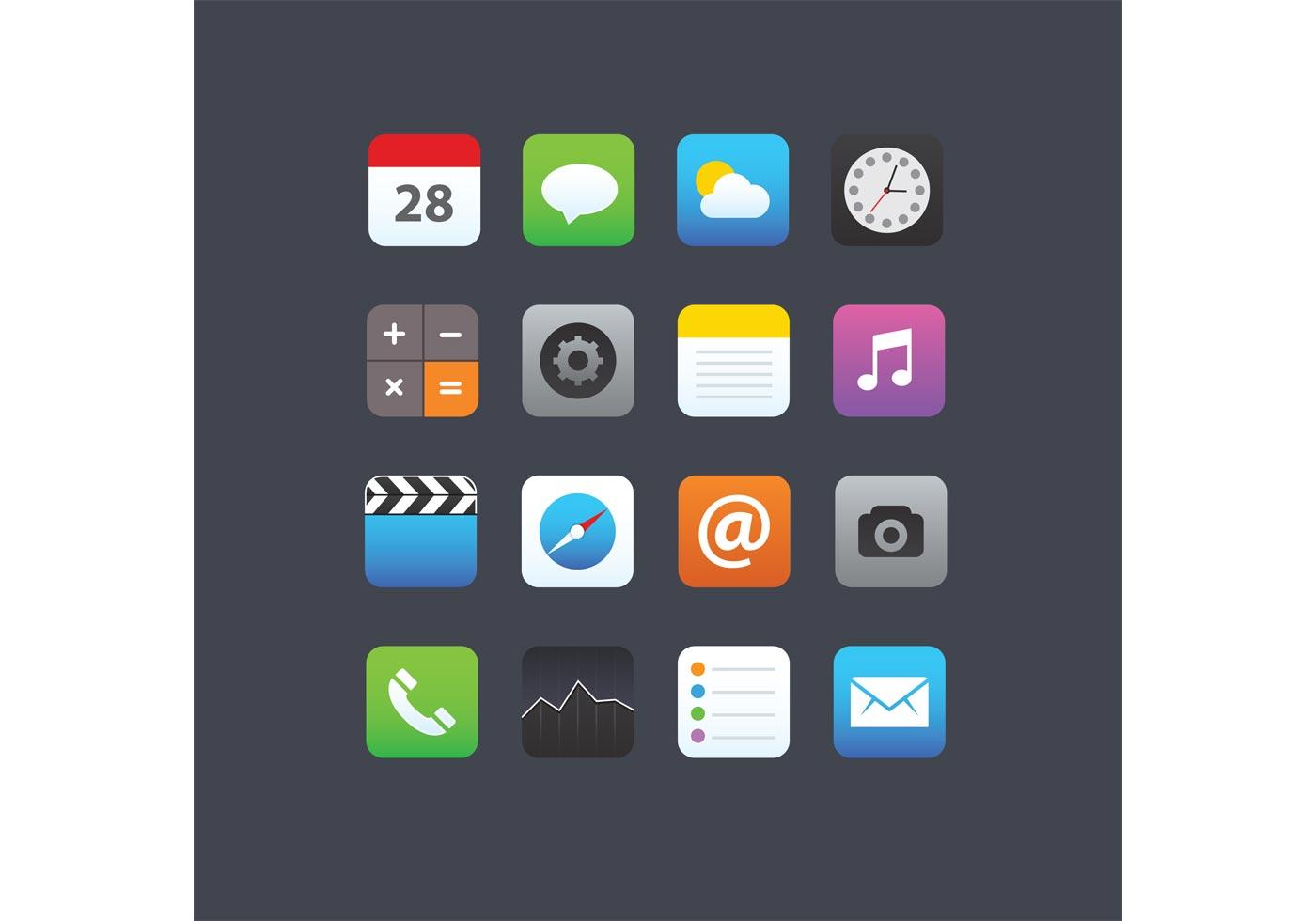 Smartphone App Icons - Download Free Vector Art, Stock ...