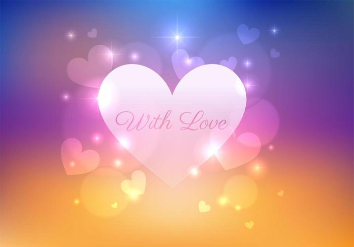 Bokeh Heart Vector Background