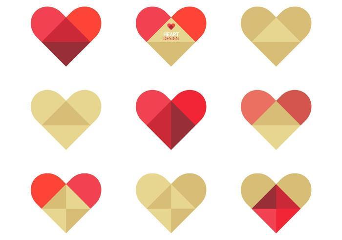Folded Heart Vector Pack