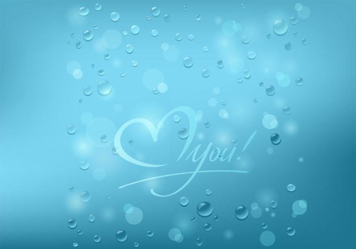Bubbly Love You Background Vector
