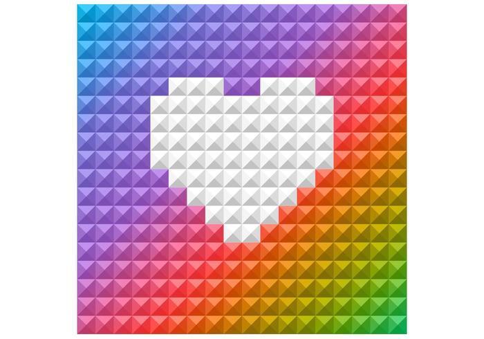 Fondo brillante del vector del corazón del arco iris