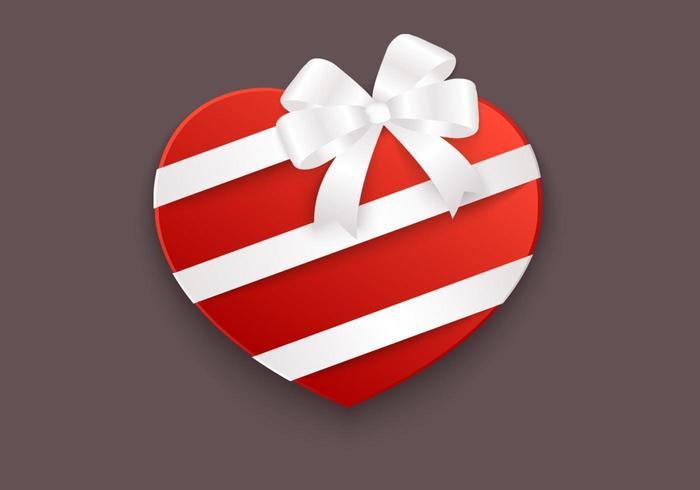Heart Box Vector Background