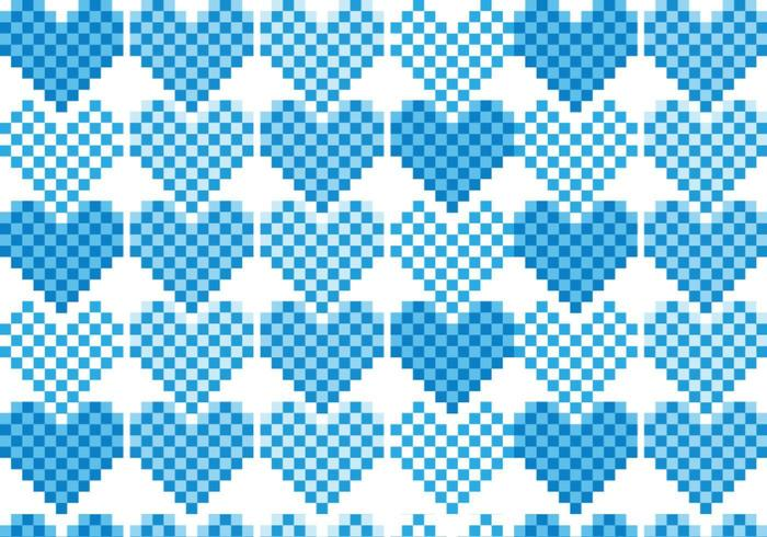Pack vecteur Pixel Heart Pattern
