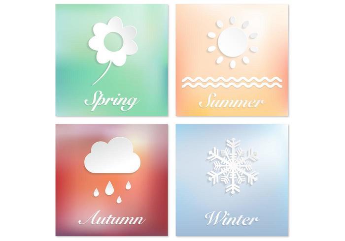 Vier Jahreszeiten Vektor Hintergrund