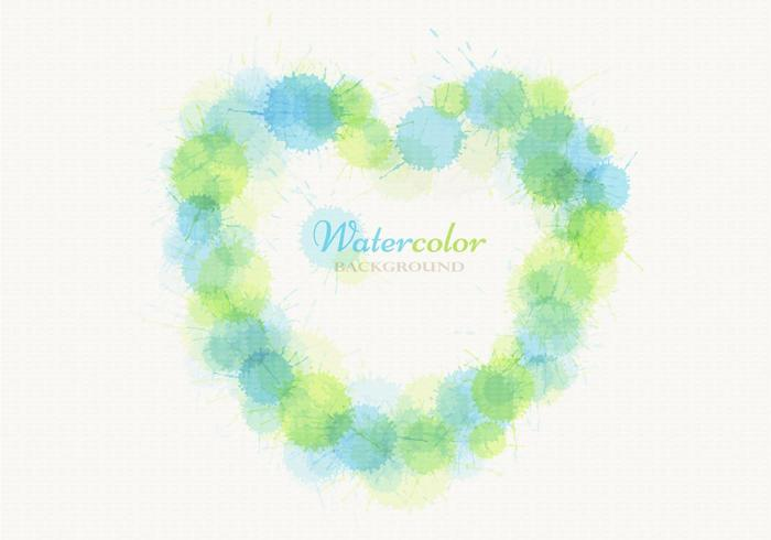 Watercolor Heart Vector Background