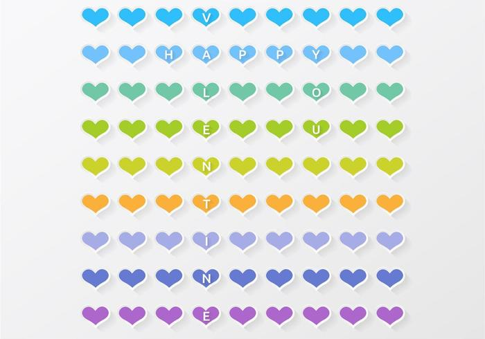 Colorful Heart Valentine Vector Background