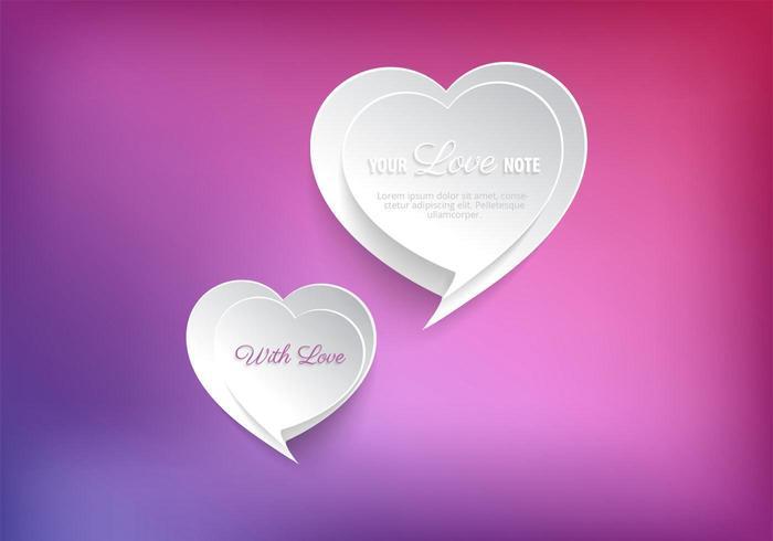 Speech Bubble Heart Vector Background