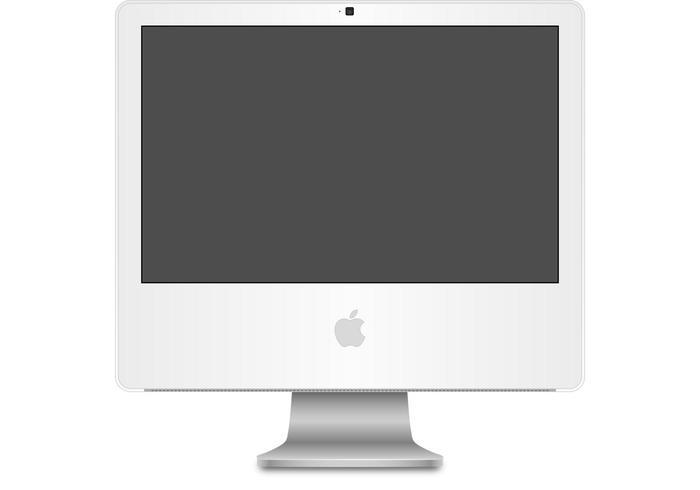 iMac G5 Computer Vector
