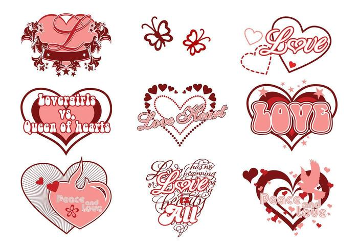 Love and Heart Vector Pack