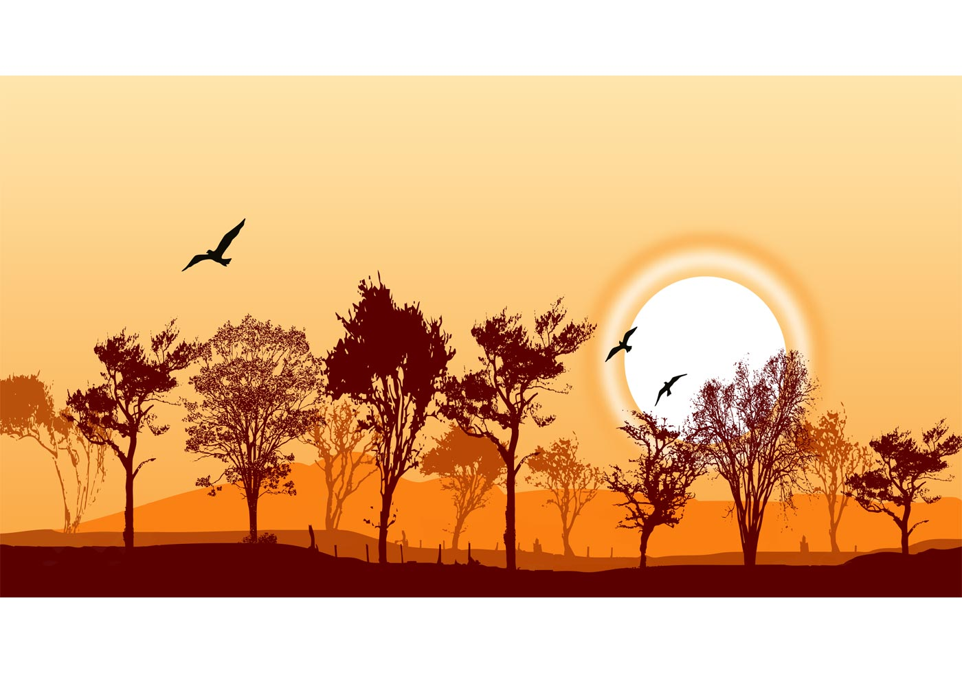 Forest Landscape Vector Free Vector Art At Vecteezy