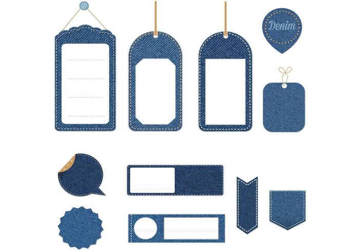 Denim Tag Vector Pack