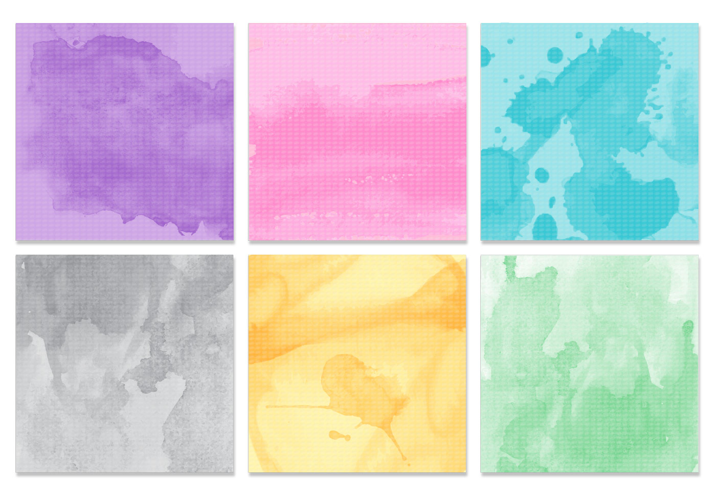 Watercolor Texture Vector Pack - Download Free Vectors ...