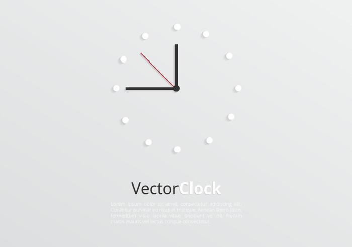 Modern Clock Background Vector