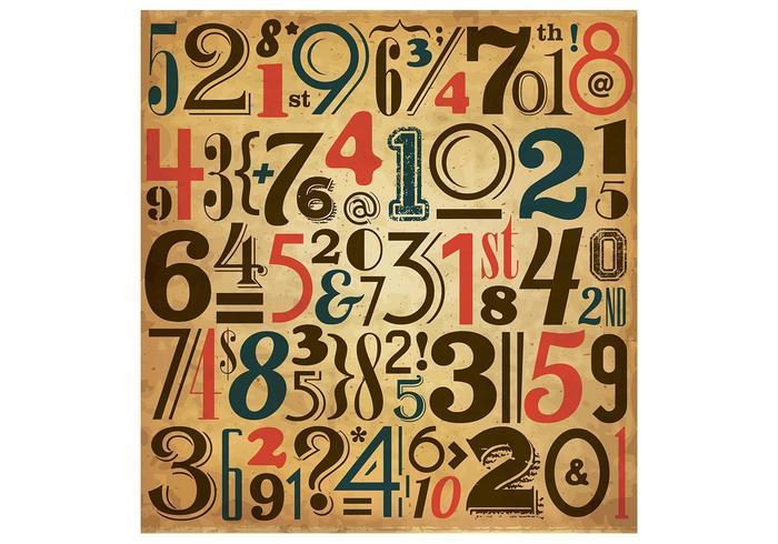 Número de la vendimia de fondo vector