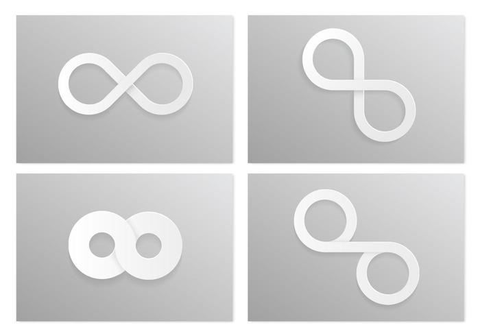 White Infinity Vector Symbol Pack