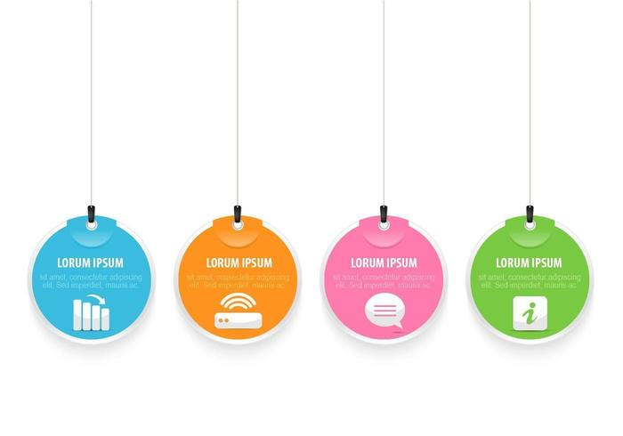 Bright Hanging Tag Vector Pack