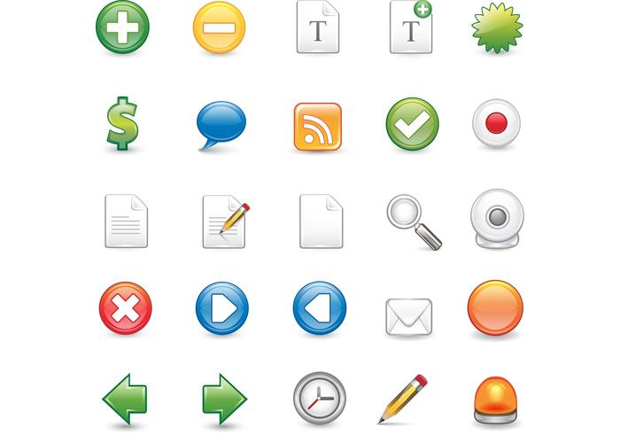 25 scalable Illustrator format icons