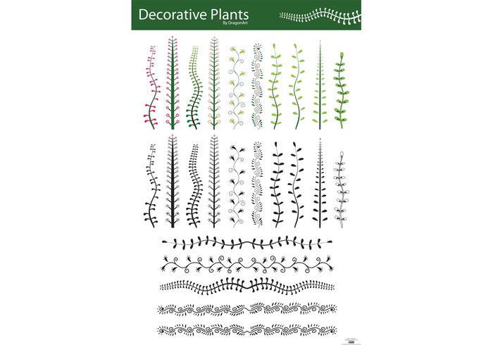 Decorative Plants Vector