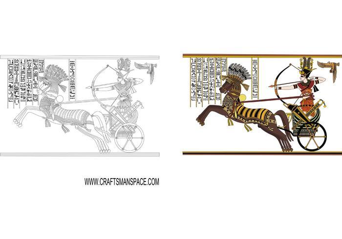 Historic Illustration of Egiptian Pharaoh