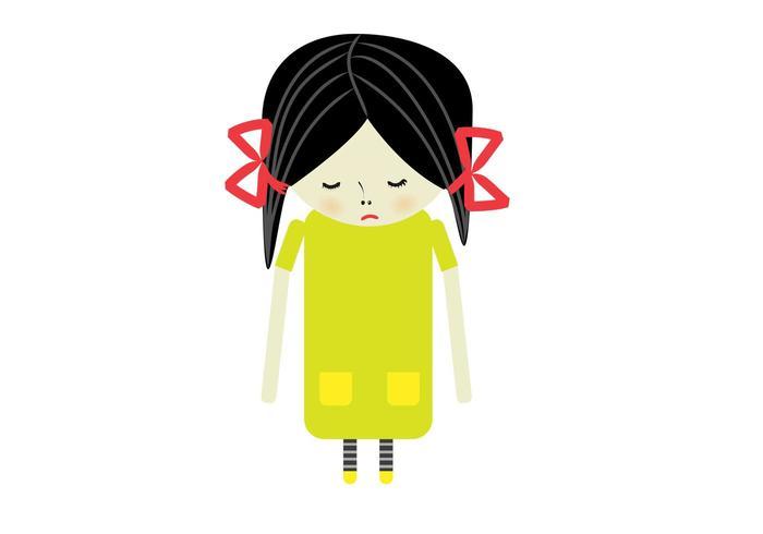 Sad Girl Vector