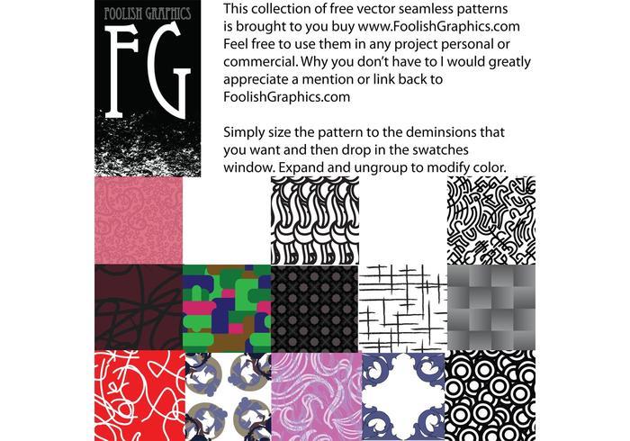 Foolish seamless pattern pack 1