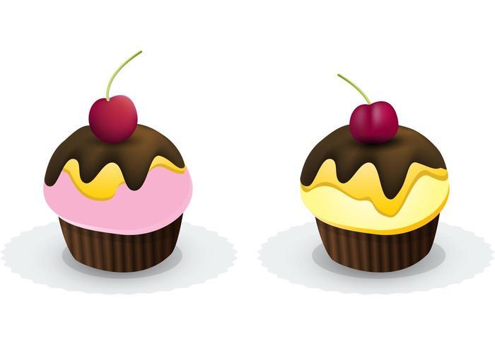 Free Cupcakes in Vectors