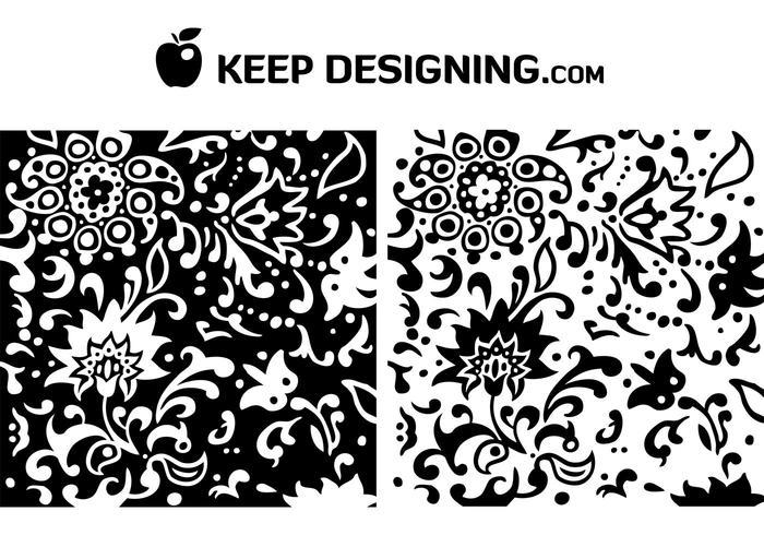 Swirly Summer Floral Pattern