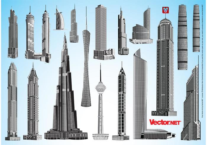 Skyscraper Vector Pack 1
