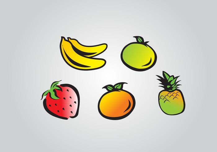 Cartoonish Fruits Vector