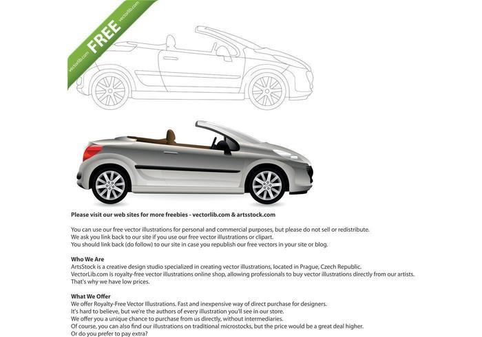 Cabriolet Car Vector