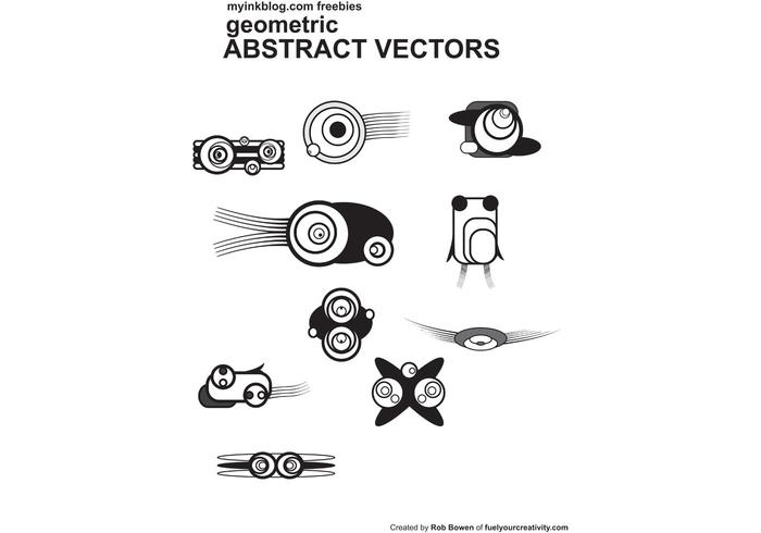 10 Free Geometric Abstract Vectors