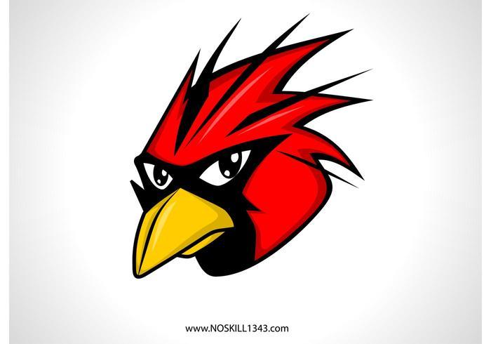 Free Vector Red Bird Head
