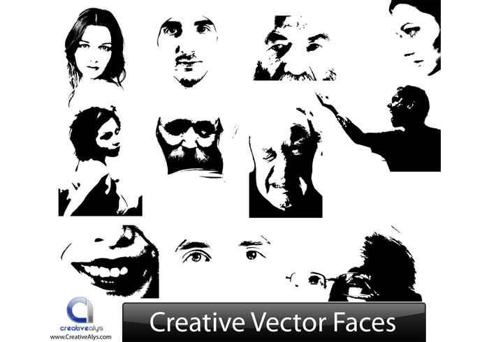 Creative Vector Face Illustrations