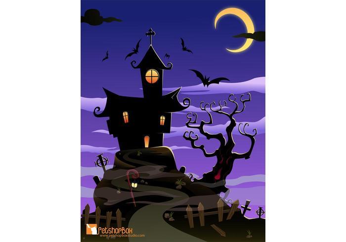 Free Spooky House Vector Art