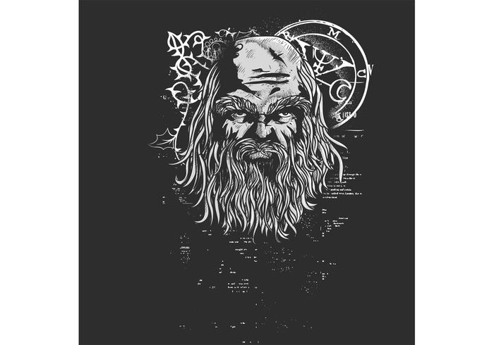 Old Man Vector T-shirt Design